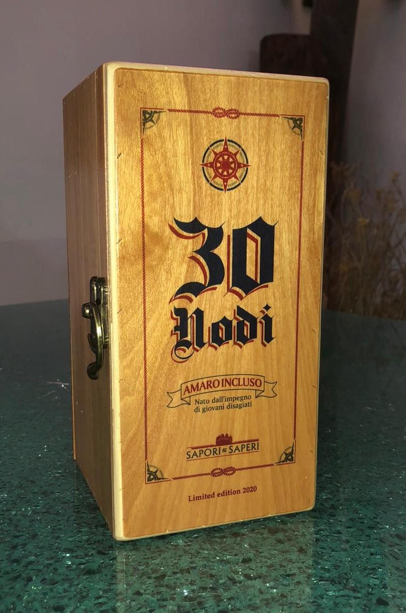 amaro-30-nodi-scatola-in-legno-bottiglia-50cl